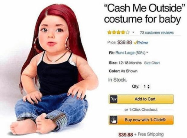 Cash Me Outside costume for baby - Halloween costume