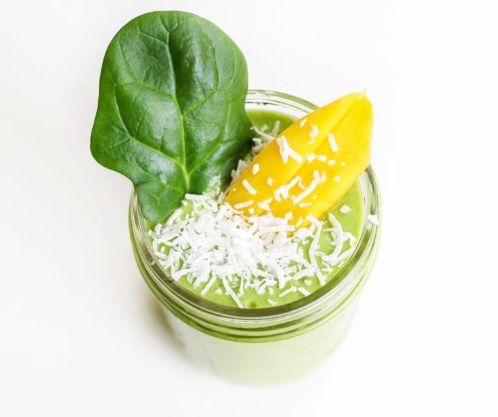 Dairy Free Mango Coconut Green Smoothie