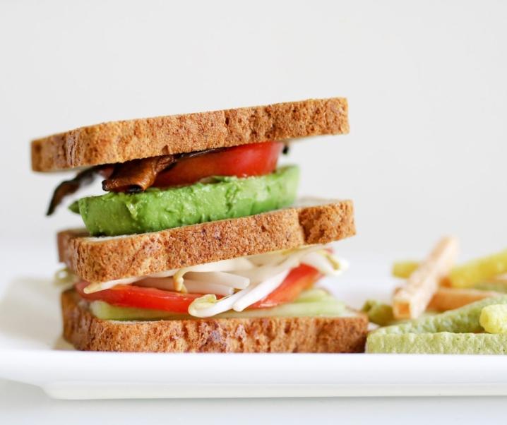 The Ultimate Vegetarian Sandwich Featuring Udi's Multigrain Bread