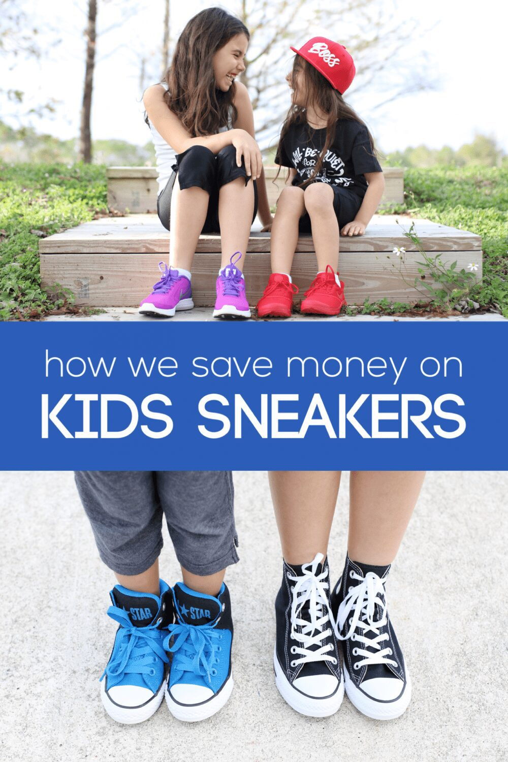 Our kids feet grow way faster than our wallets can handle. So here is how we keep our kids in the best quality sneakers AND save money!