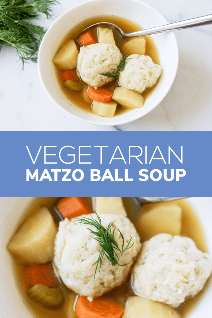 Looking for a vegetarian option of the classic Matzo Ball Soup? Check out this recipe. Just slight changes and still taste just as good.