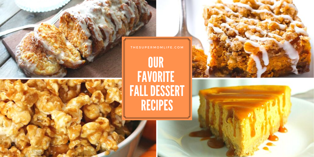 a variety of pumpkin spice and fall dessert recipes