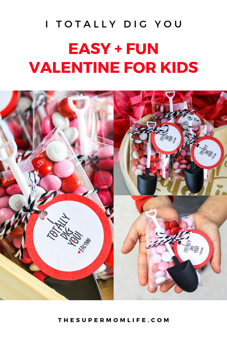 I Totally Dig You Valentine DIY. The BEST Valentine Ideas for Kids of all ages! valentines day, valentine, i totally dig you, kids valentine, gift idea, diy, kids craft, crafts for kids, 2019, candy, ideas for valentines day, gifts for kids, i dig you