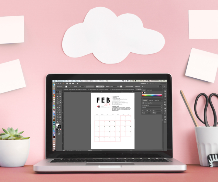 Free Printable Editorial Calendar for Bloggers – First Quarter 2019