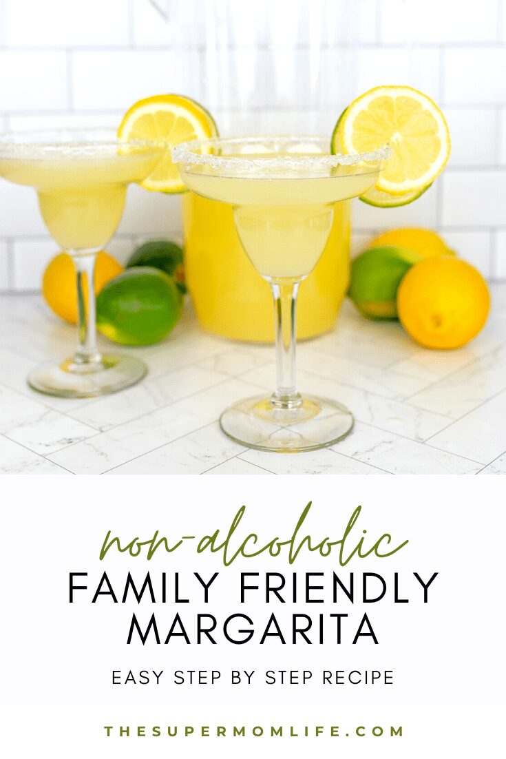 This is the yummiest non-alcoholic margarita ever. At least according to my kids. All you need is three ingredients!