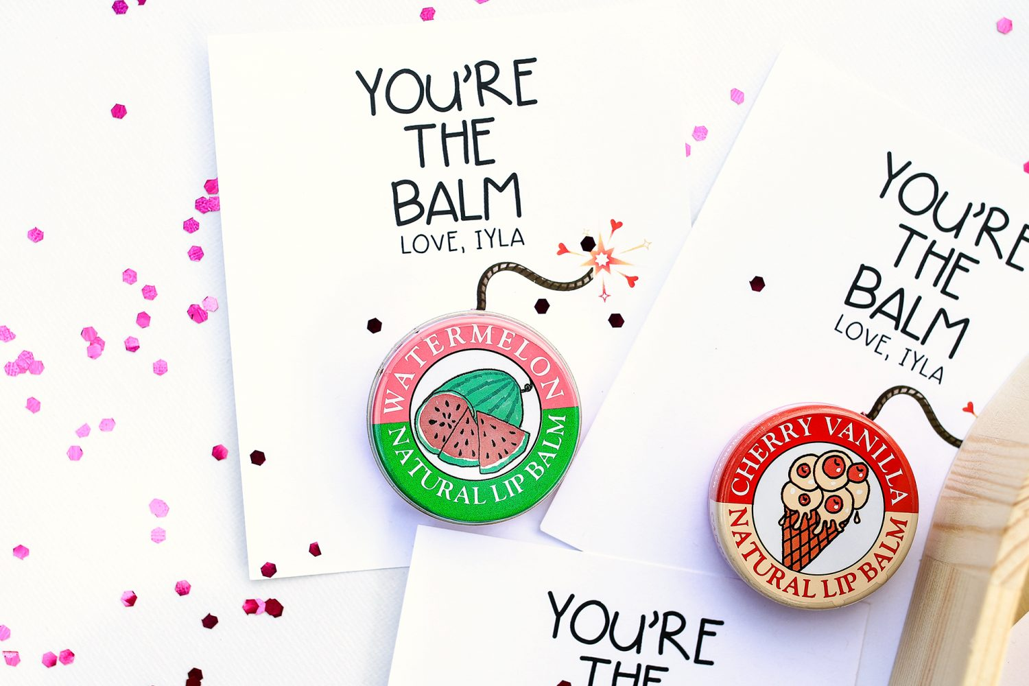 you're the balm, you're the bomb, valentines day, valentine, kids valentine, gift idea, diy, kids craft, crafts for kids, 2019, candy, ideas for valentines day, gifts for kids, free printable, valentine printable