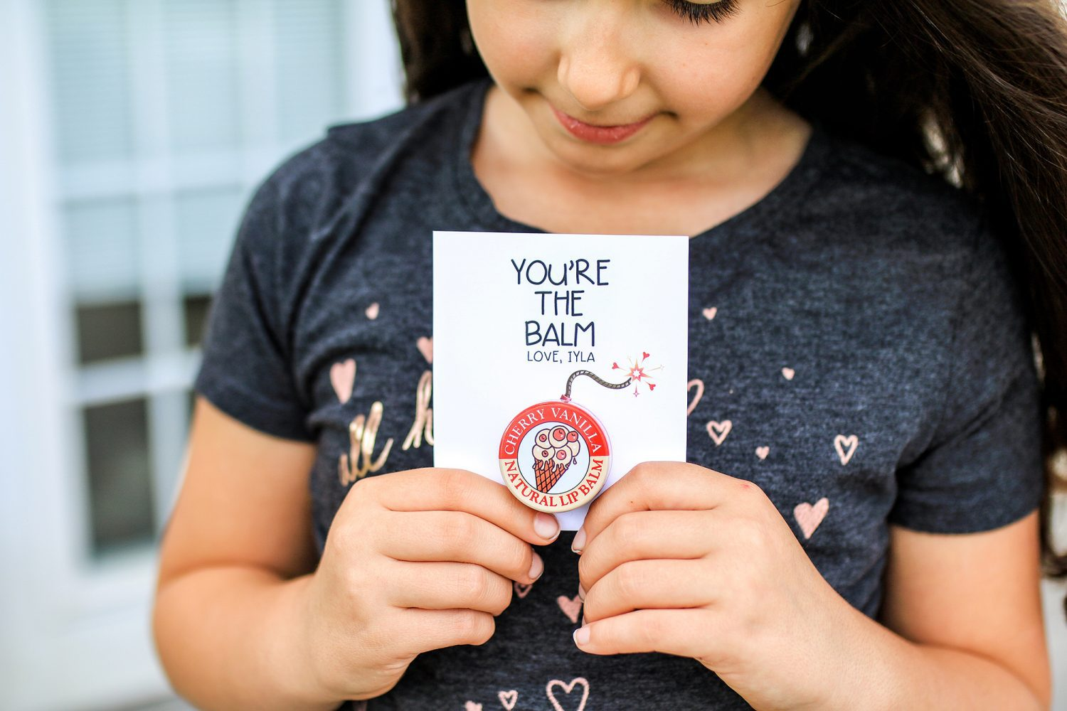 you're the balm, you're the bomb, valentines day, valentine, kids valentine, gift idea, diy, kids craft, crafts for kids, 2019, candy, ideas for valentines day, gifts for kids