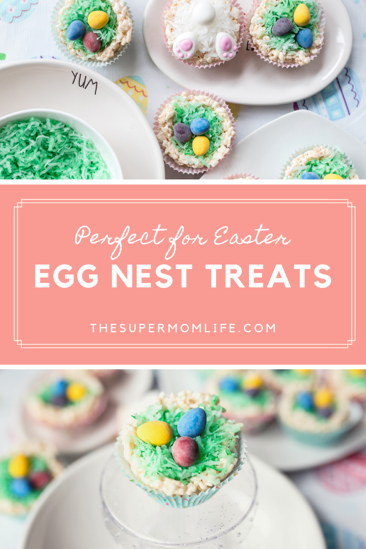 A simple Easter recipe consisting of rice cereal treats, chocolate candy eggs and shredded coconut. The kids will love this recipe. It's perfect for Easter.