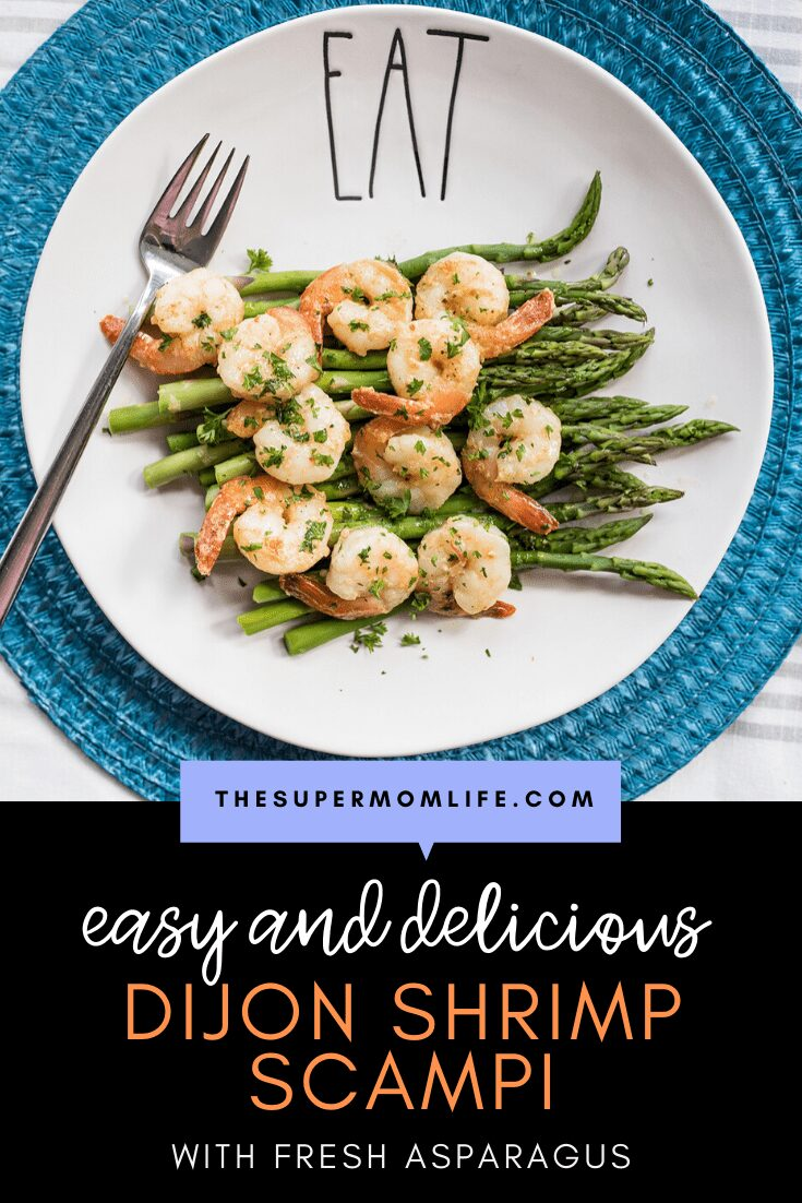 Pair fresh asparagus with our go-to dijon shrimp scampi recipe and they'll be raving about it for days! #giveitzing #sponsored