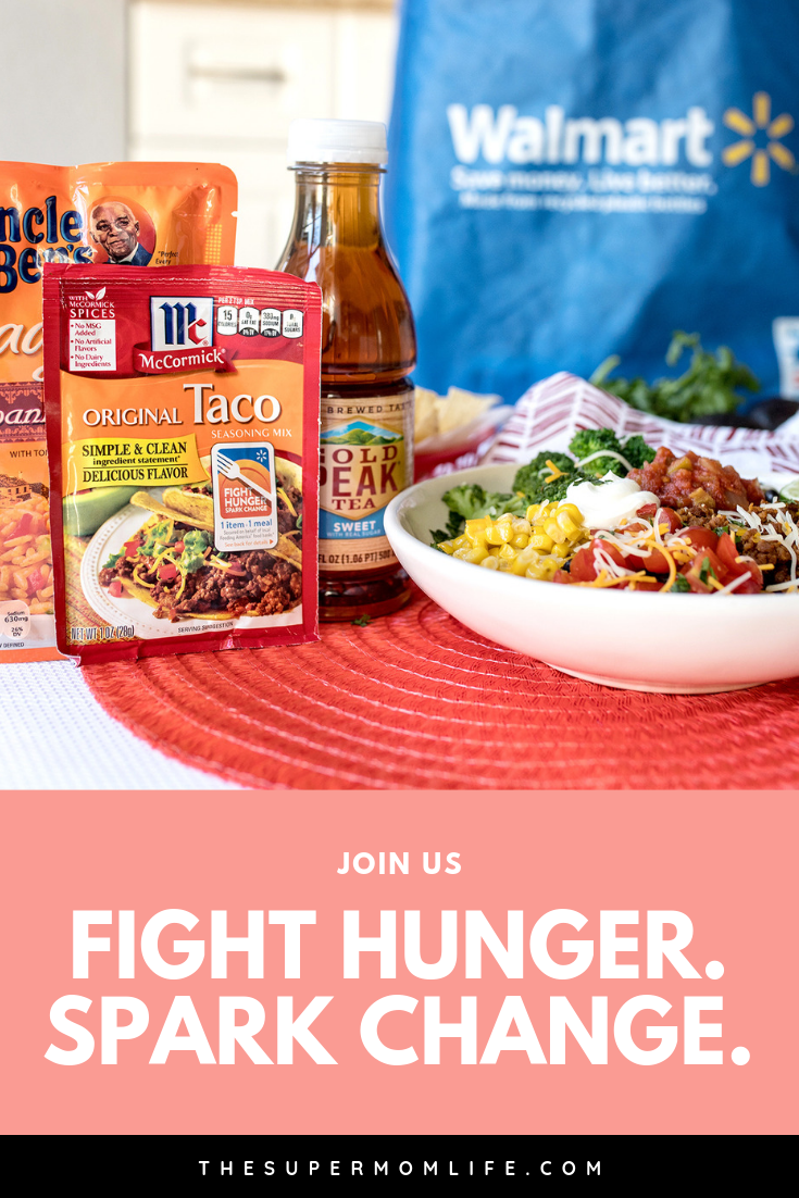 """#sponsored 1 in 8 Americans struggle with food insecurity. Join me in participating in Walmart's 6th Annual """"Fight Hunger. Spark Change."""" campaign. #FightHunger #1item1meal #1BillionMeals"""
