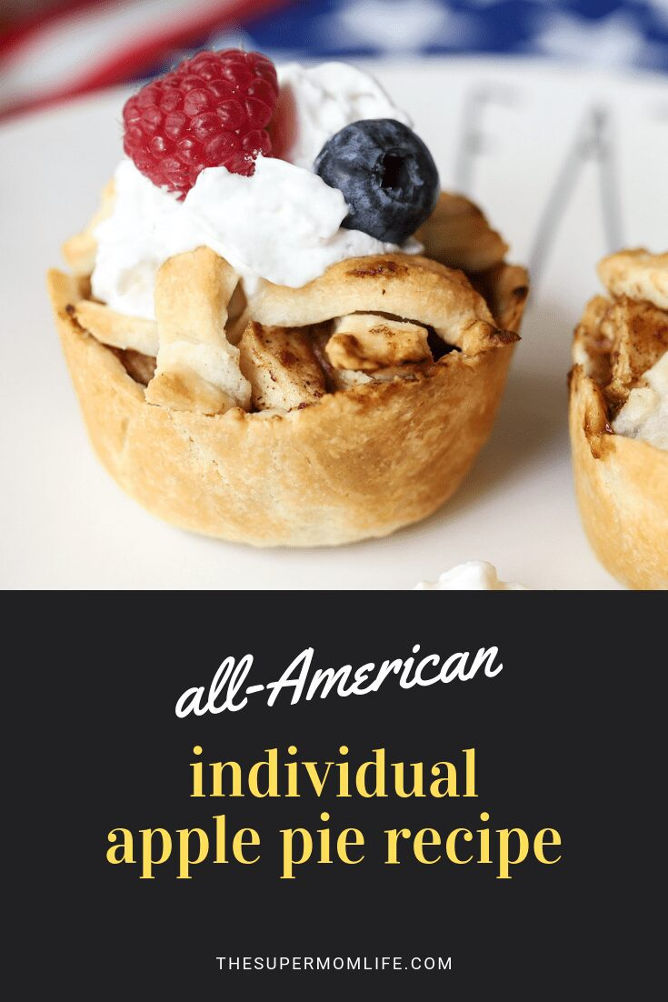 These individual all-American apple pies are filled with a delicious homemade apple and cinnamon filing and are easy to prepare.