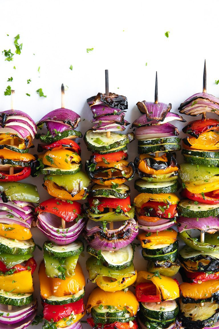 Easy Grilled Veggie Skewers by Jessica at The Forked Spoon