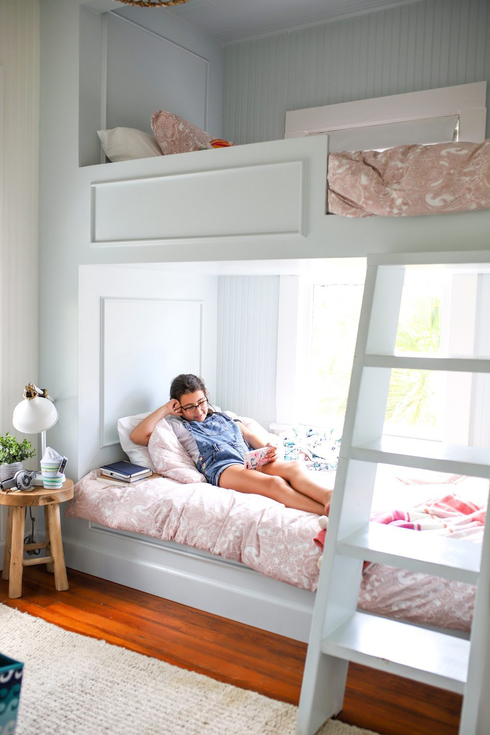 Built in bunk beds at an AirBnB