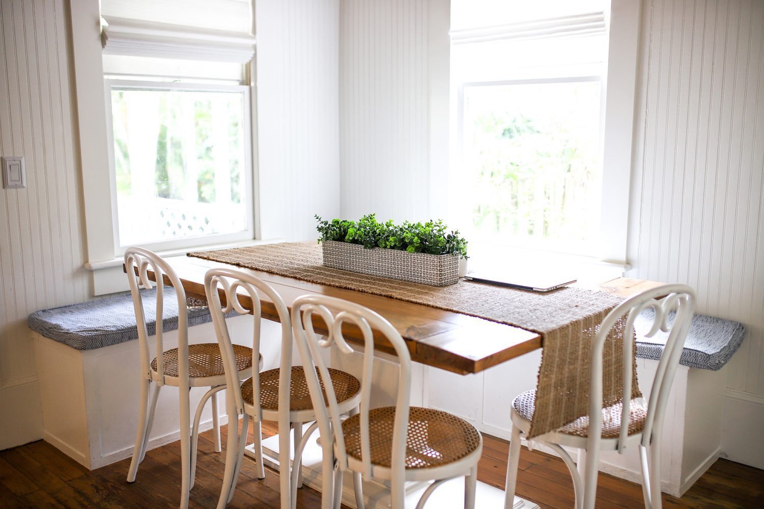 Kitchen table and dining area of an AirBnB