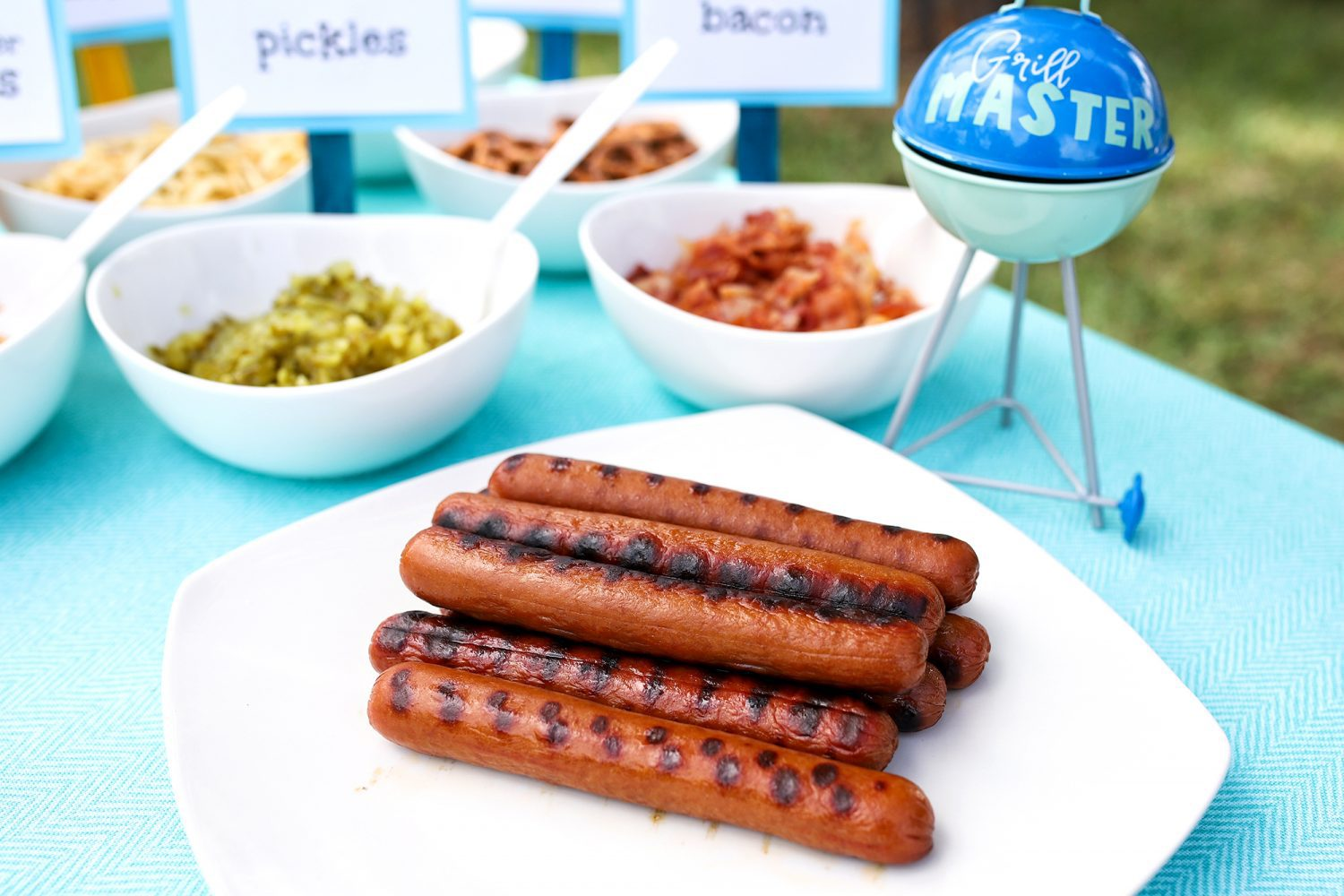 the ultimate kid-friendly hot dog bar