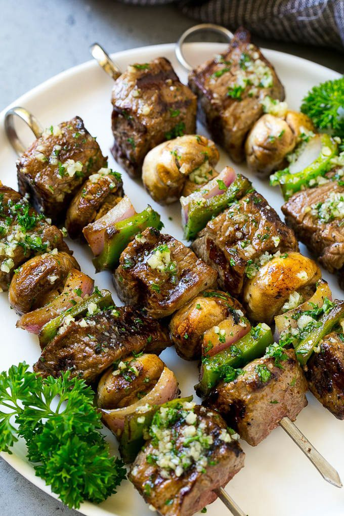 Steak Kabobs with Garlic Butter by Sara at Dinner at the Zoo