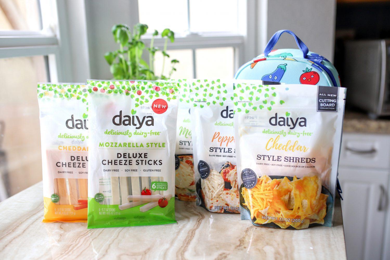 variety of daiya plant based cheeses