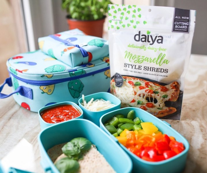 Dairy-Free Rainbow Pepper Pizza Lunch Box Idea