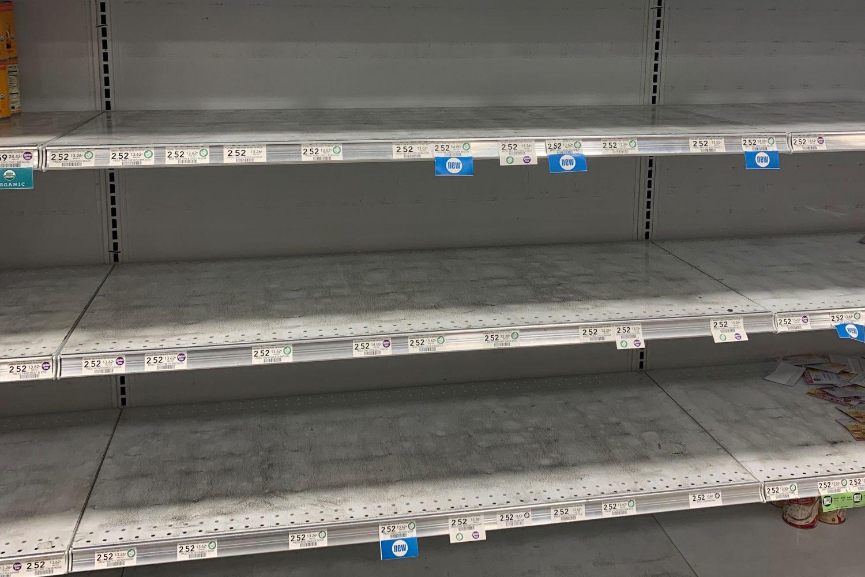 empty shelves at publix