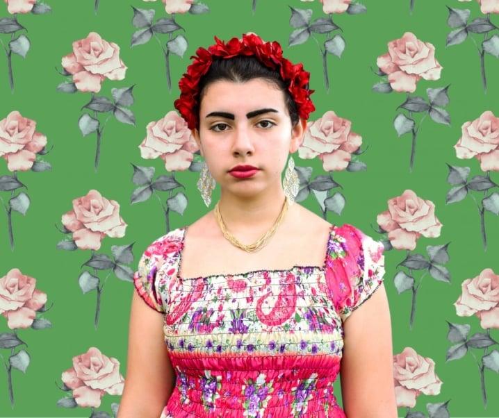 Thrift Store DIY Frida Kahlo Costume