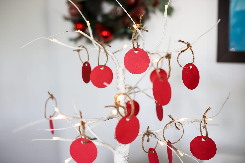 christmas wish tree table decor