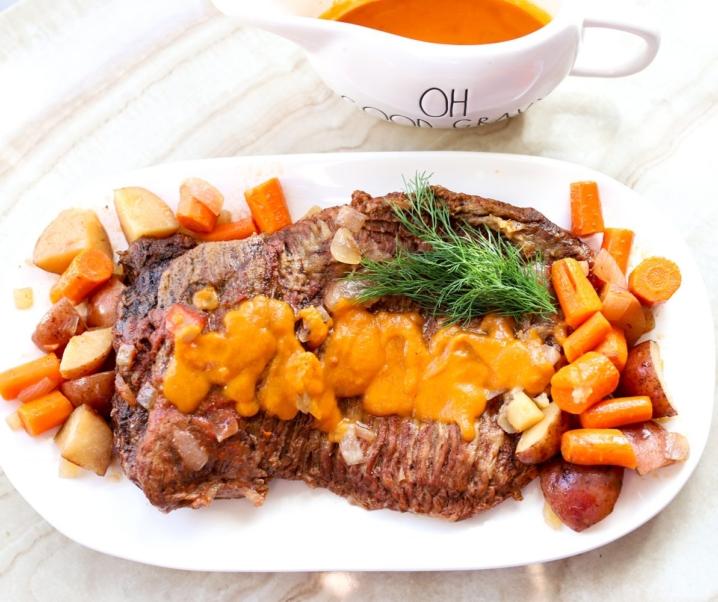 Nana's Slow Cooker Pot Roast with Homemade Gravy