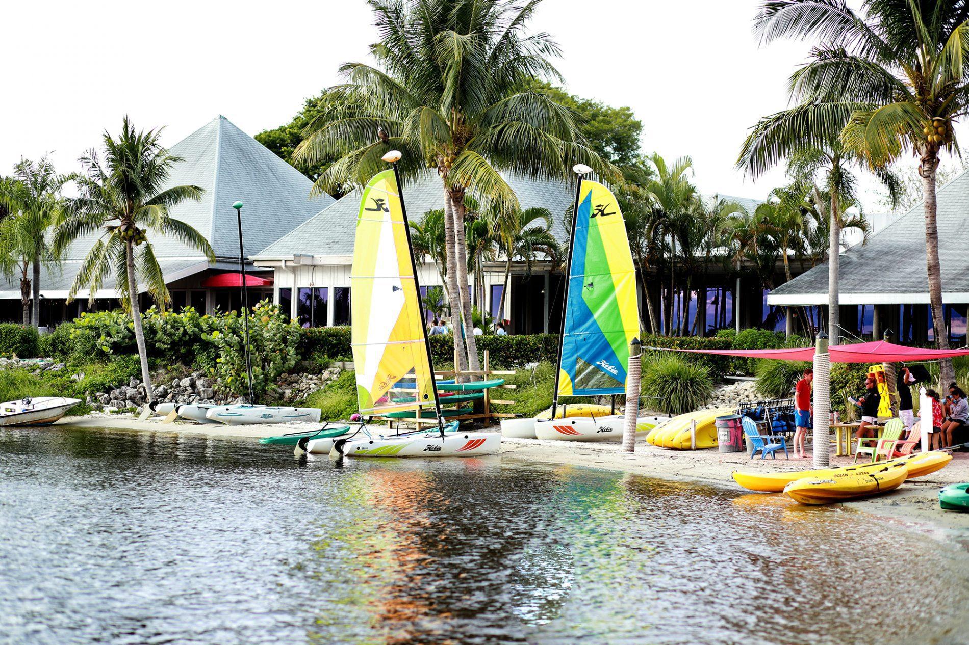 sailboats at the sandpiper bay resort