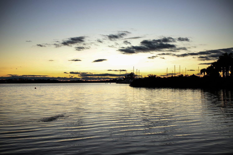 sunset at the sandpiper bay resort