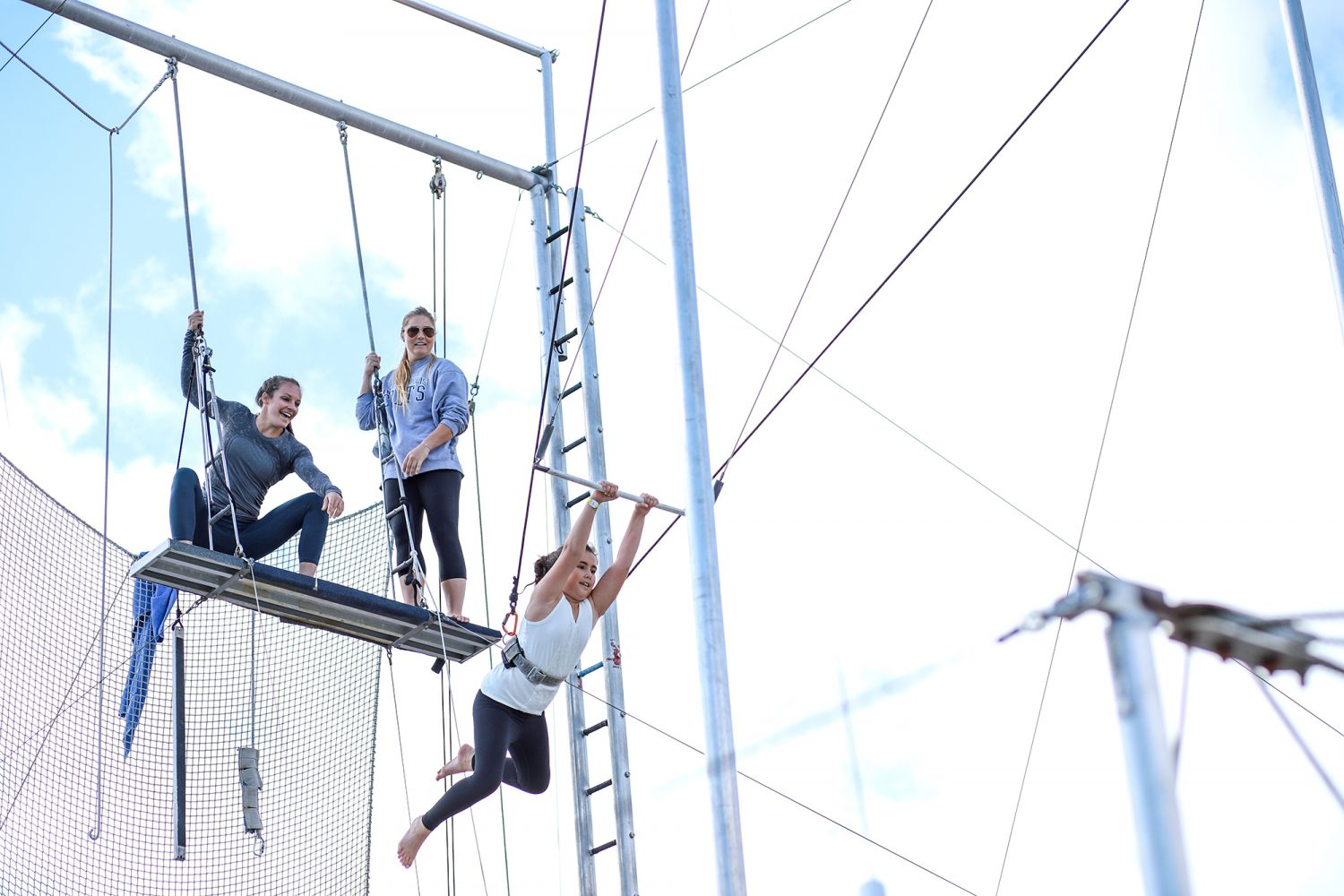 young girl on the trapeze