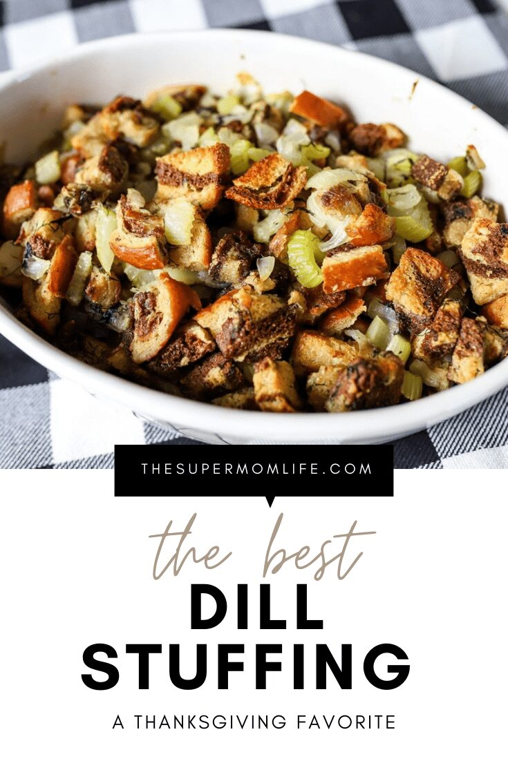 It's been described as the best stuffing ever. Packed with celery, onions, dill and rye bread, it's so good, you can eat it as a side dish all year long.