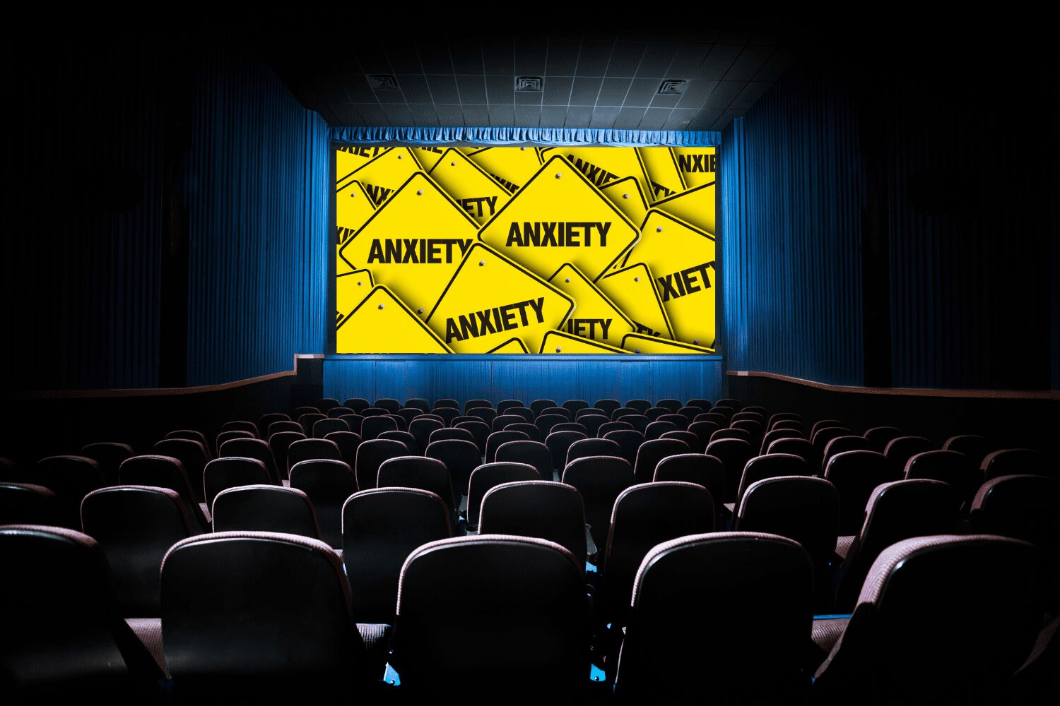 anxiety in a movie theater
