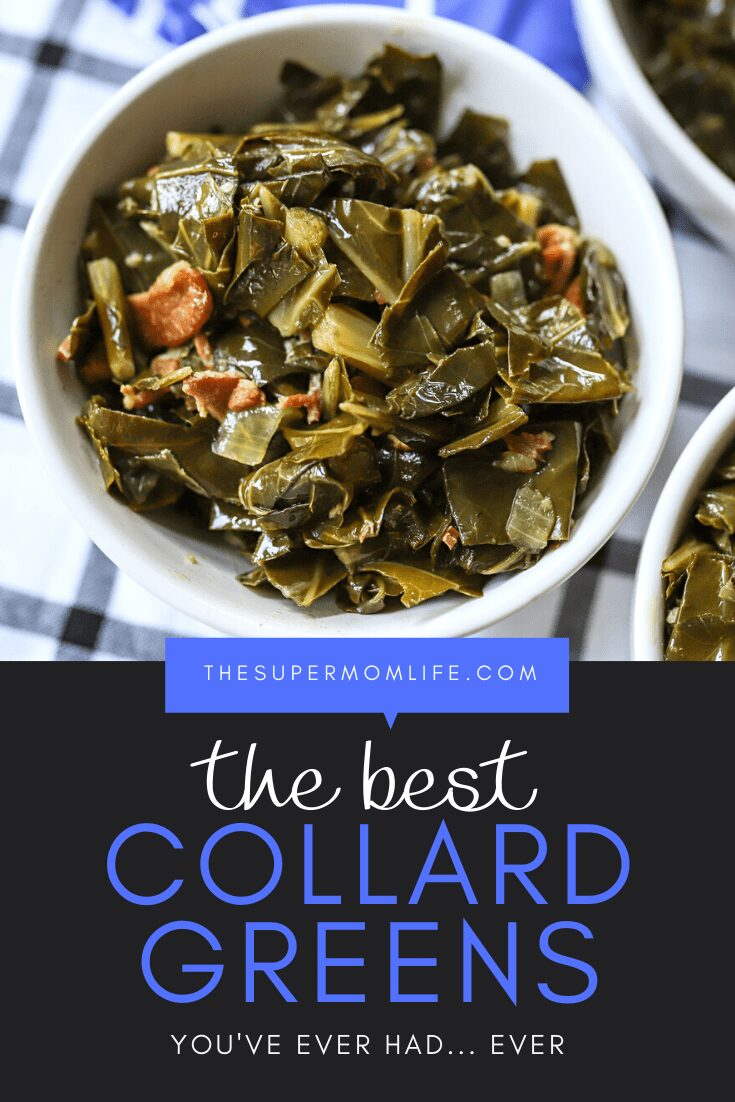 This is, by far, the best collard greens recipe you'll ever try. Packed with bacon, onion, garlic and greens, you won't believe how good they are!