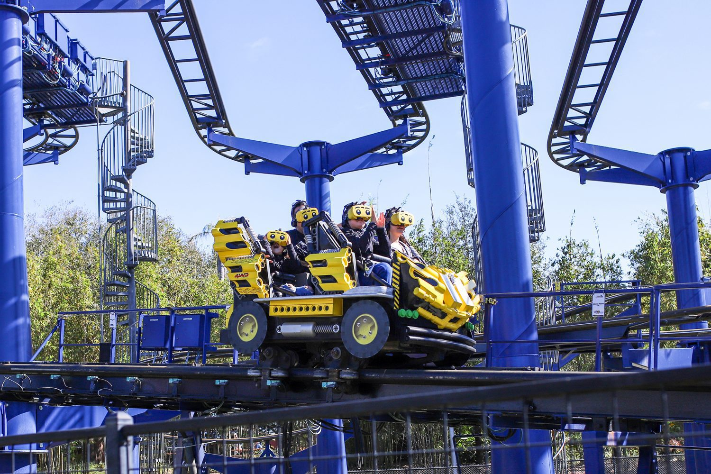 virtual reality roller coaster at legoland
