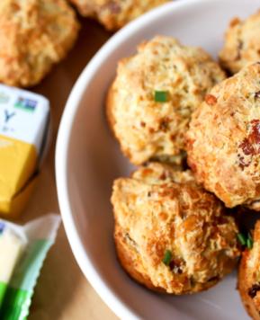 How to Make Cheesy Bacon Irish Soda Muffins l Recipe Video
