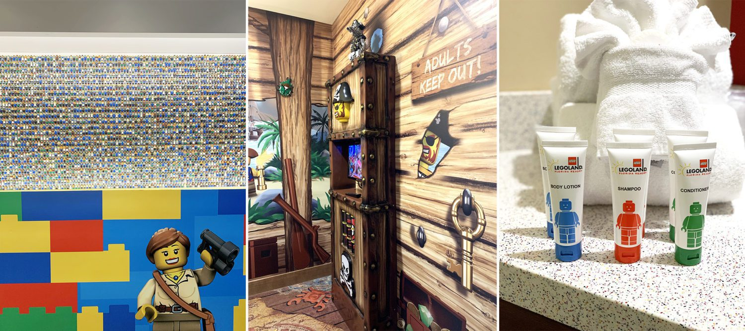 collage of amenities of LEGOLAND hotel