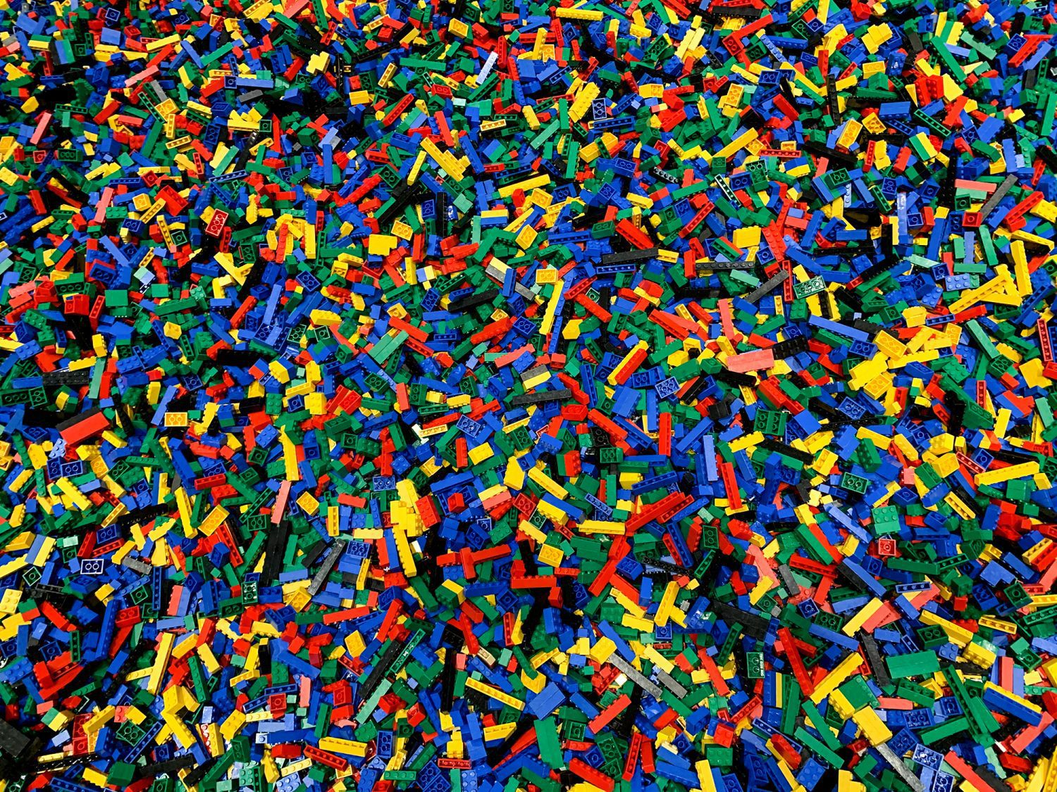 a huge container filled with legos