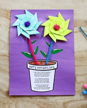 Mother's Day Flower Pot Printable Craft