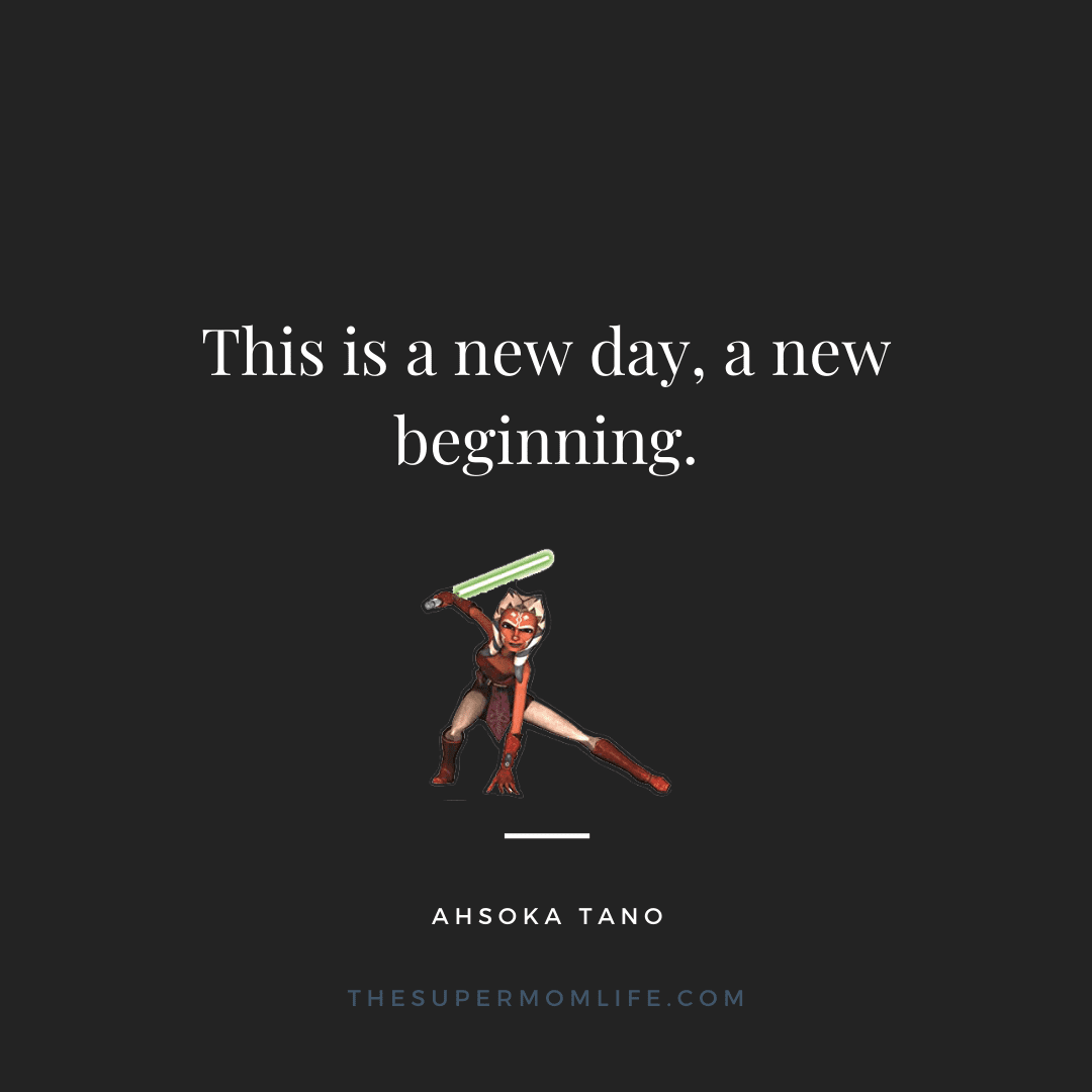 This is a new day, a new beginning.