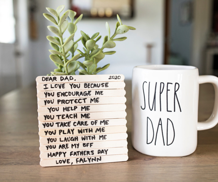 How to Create a Father's Day Popsicle Stick Coaster