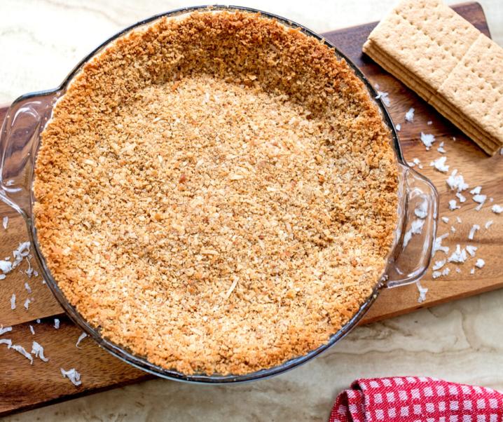 Toasted Coconut Graham Cracker Pie Crust
