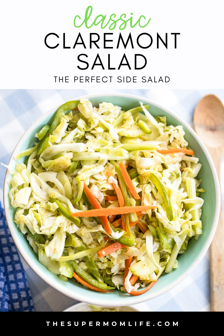 Also referred to as health salad, claremont salad is a mixture of thinly sliced veggies and dressing, typically served at tables in Delis.