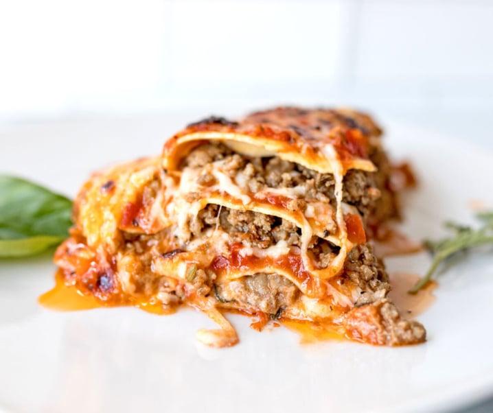 Super Meaty and Cheesy No Boil Lasagna
