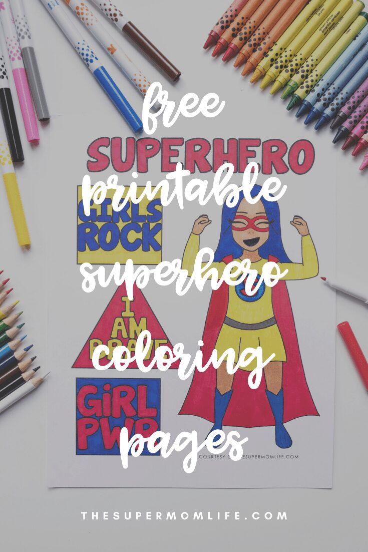 There is nothing more relaxing than sitting down and coloring no matter what age you are. We are excited to share these free printable superhero coloring pages.