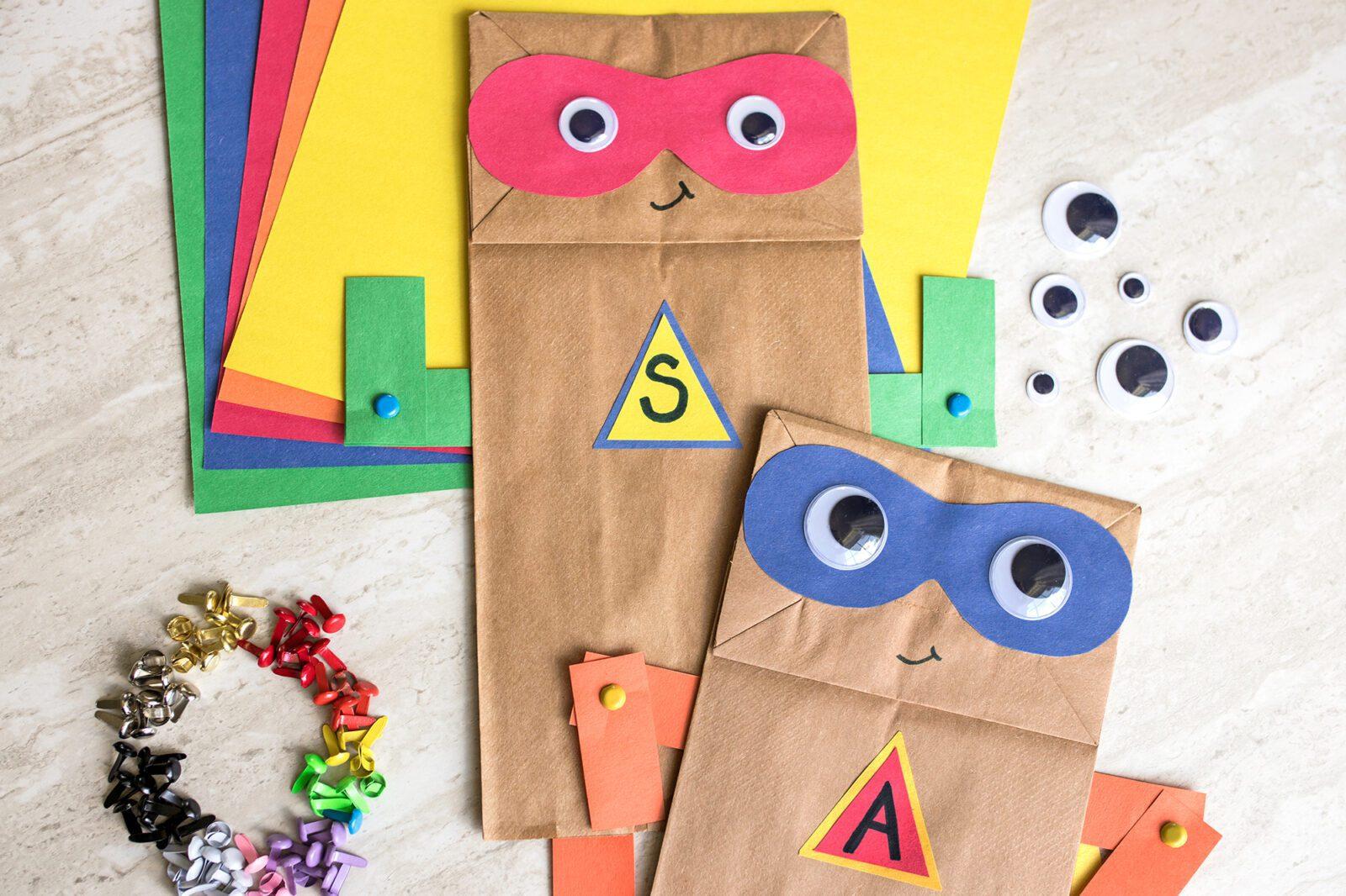 superhero paper bag craft idea