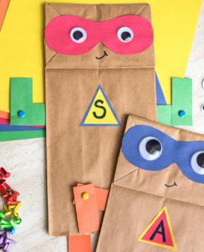 Superhero Paper Bag Craft with Free Printable