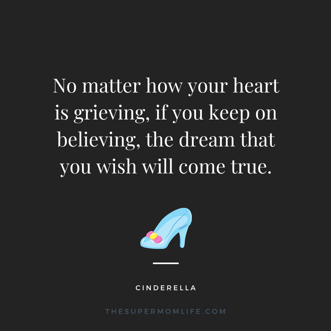 No matter how your heart is grieving, if you keep on believing, the dream that you wish will come true.