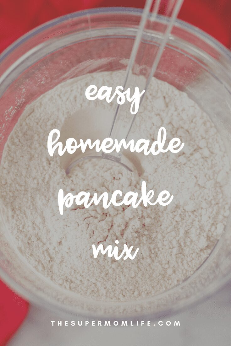 Never buy boxed pancake mixes again. Now you can make your own, with ingredients you probably have in your pantry!