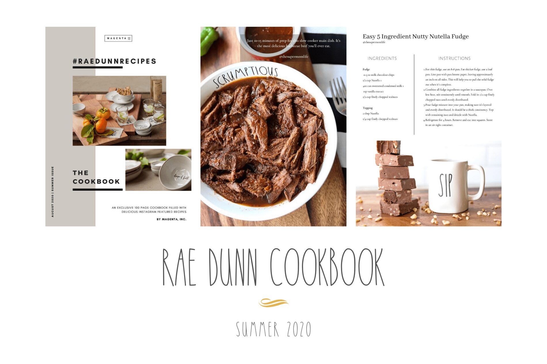 Rae Dunn cookbook summer 2020