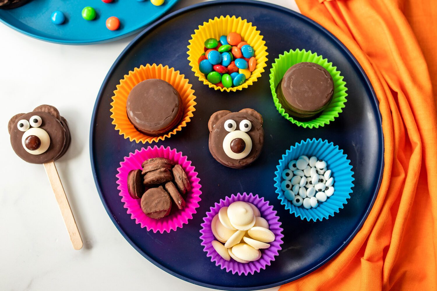everything you need to make a teddy bear cookie