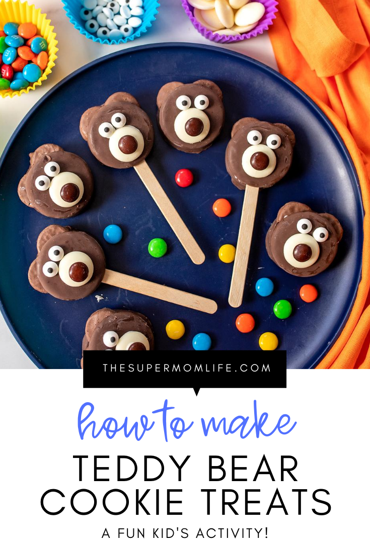 Looking for a fun activity to do with the kids? These adorable teddy bear cookie treats are easy to make and sure to be a hit!